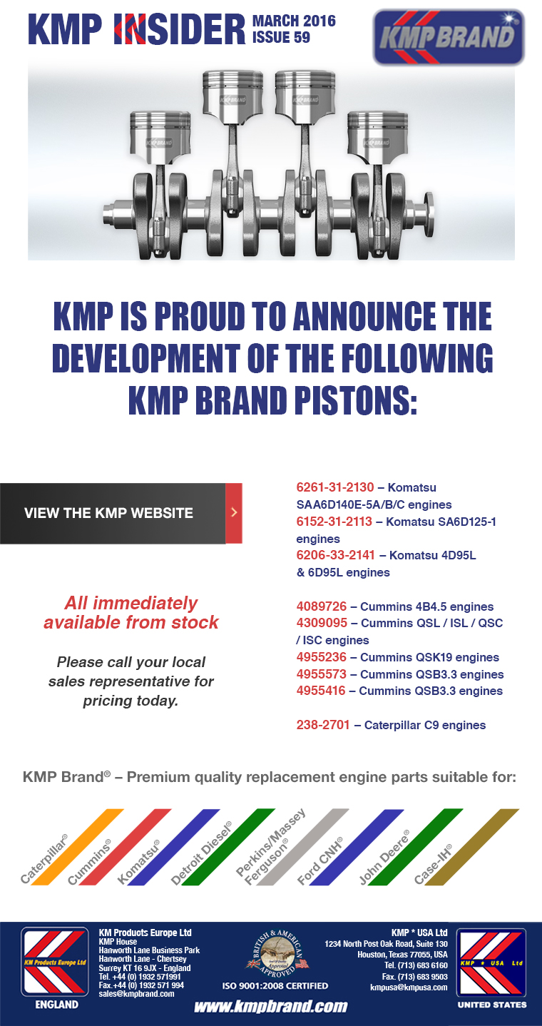 New KMP Pistons