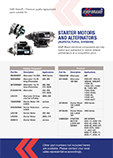 Starter Motors and Alternators Agricultural Division Catalogue
