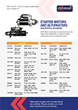 Starter Motors and Alternators Industrial Division Catalogue