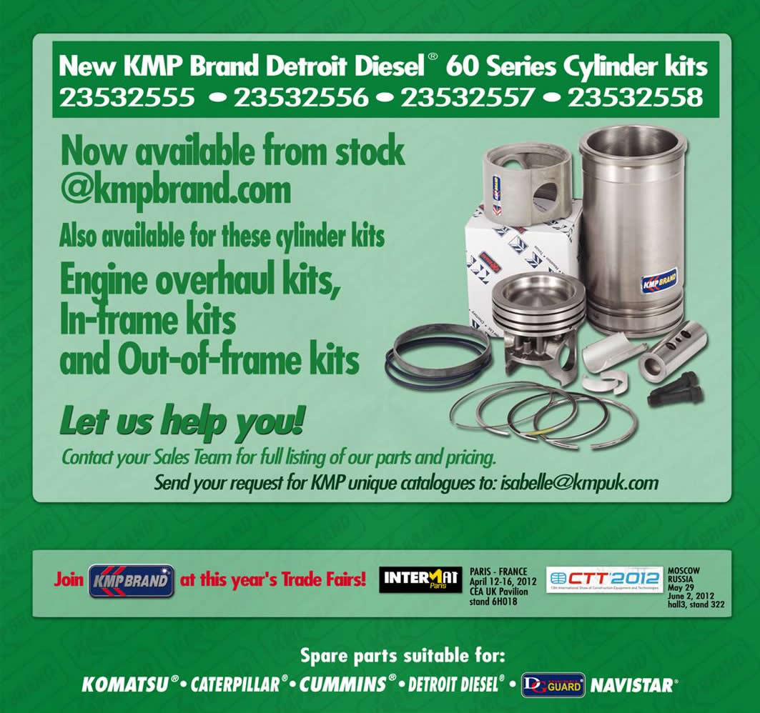 KMP Insider January 2012 Detroit Diesel 60 Series