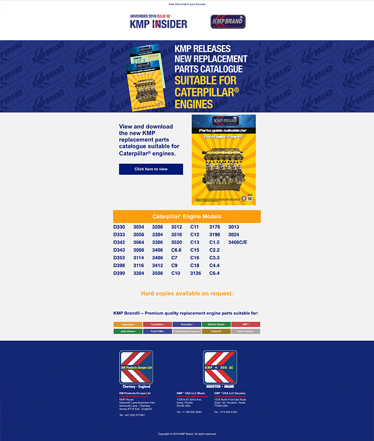 KMP Releases New Replacement Parts catalogue
